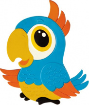 Мини-коврик Valiant Попугай, голубой