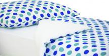 Постельное белье Круги, мятный/синий