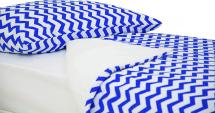 Постельное белье Зигзаги, синий