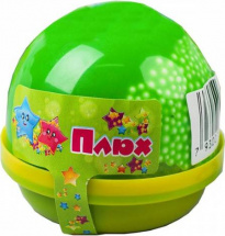 Слайм Плюх капсула с шариками, зеленый