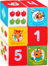 Кубики Мякиши Три кота. Математика