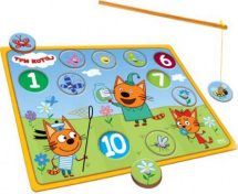Игра рыбалка Буратино Три кота. Ловим бабочек