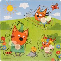 Вкладыши Буратино Три кота. Веселая прогулка