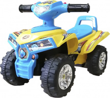 Каталка Baby Care Super ATV, желтый/синий