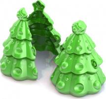 Формочка Нордпласт для снега Елочка, зеленый