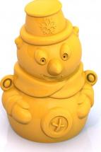 Формочка Нордпласт для снега Снеговик, желтый