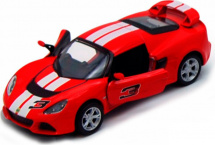 Машинка Kinsmart Lotus Exige S 2012 с полосками, красный