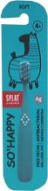 Зубная щетка Splat Junior антибактериальная с ионами серебра от 4 лет, голубой