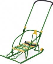 Санки Ника Nikki 2 складные с колесиками, зеленый
