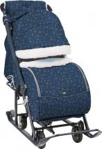 Санки-коляска Ника детям 7-1Б, северный синий