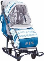 Санки-коляска Наши Детки, скандинавский синий