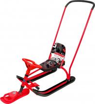 Снегокат Ника Twiny 2 Экстрим с толкателем, красный каркас