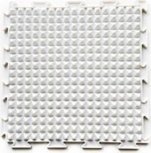 Массажный коврик Орто Льдинки жесткий 25x25 см, белый