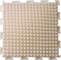 Массажный коврик Орто Льдинки жесткий 25x25 см, перламутровый