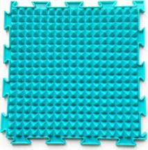 Массажный коврик Орто Льдинки жесткий 25x25 см, бирюзовый