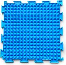Массажный коврик Орто Льдинки жесткий 25x25 см, голубой