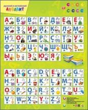 Звуковой плакат Рыжий кот Русский и английский алфавит