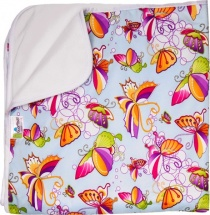 Пеленка GlorYes впитывающая 80х68 см, бабочки