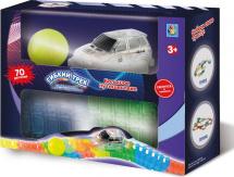 Гибкий трек 1 Toy Большое путешествие Мини-набор 70 дет светящийся