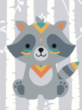Картина по номерам Polly Храбрый енот 20х15 см