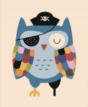 Картина по номерам Polly Сова-пират 20х15 см