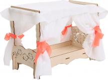 Мебель для кукольного домика Polly Чудо-кровать с балдахином