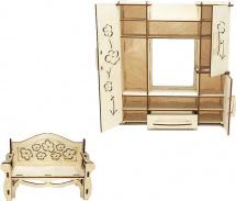 Мебель для кукольного домика Polly Гостиная