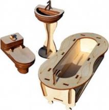 Мебель для кукольного домика Polly Чудо-ванная