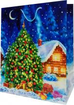 Пакет подарочный Новогодняя сказка 26х32 см