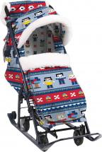 Санки-коляска Ника детям 7-5 в стиле лего