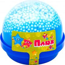 Слайм Плюх капсула с шариками, голубой