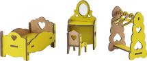 Мебель для кукольного домика Большой слон Спальня, цветной
