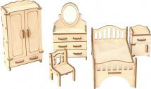 Мебель для кукольного домика Большой слон Спальня