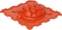 Массажный коврик Орто Черепашка жесткий 25x25 см, оранжевый