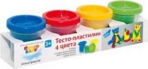 Тесто-пластилин Genio kids 4 цвета по 140г