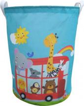 Корзина для игрушек Веселый автобус 35х35х45 см