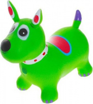 Прыгун Собачка с рисунком, зеленый