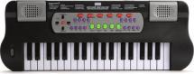 Синтезатор 37 клавиш с микрофоном, черный