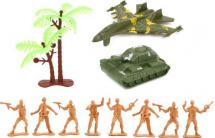 Солдатики с самолетом и танком