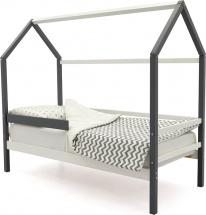 Кровать-домик Svogen с бортиком, белый/графит