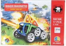 Магнитный конструктор Супер Танк 17 деталей