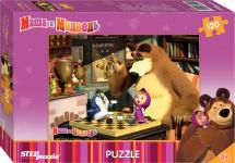 Пазлы Steppuzzle Анимаккорд. Маша и Медведь 120 элементов