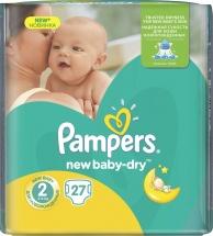 Подгузники Pampers New Baby 2 (3-6 кг) 27 шт