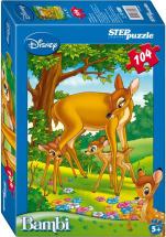 Пазлы Steppuzzle Disney Бемби с оленем 104 элемента