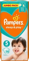 Подгузники Pampers Sleep&Play 5 (11-16 кг) 58 шт