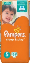 Подгузники Pampers Sleep&Play 5 (11-18 кг) 58 шт