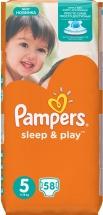 Подгузники Pampers Sleep & Play 5 (11-18 кг) 58 шт