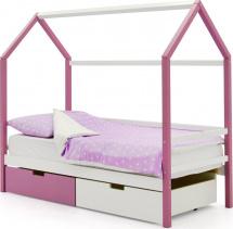 Кровать-домик Svogen с ящиками, белый/лаванда