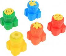 Пальчиковые краски Центрум Фиксики 5 цветов со штампиками