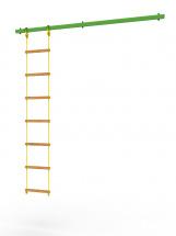 Перекладина Rokids к шведской стенке Роки с веревочной лестницей, зеленый